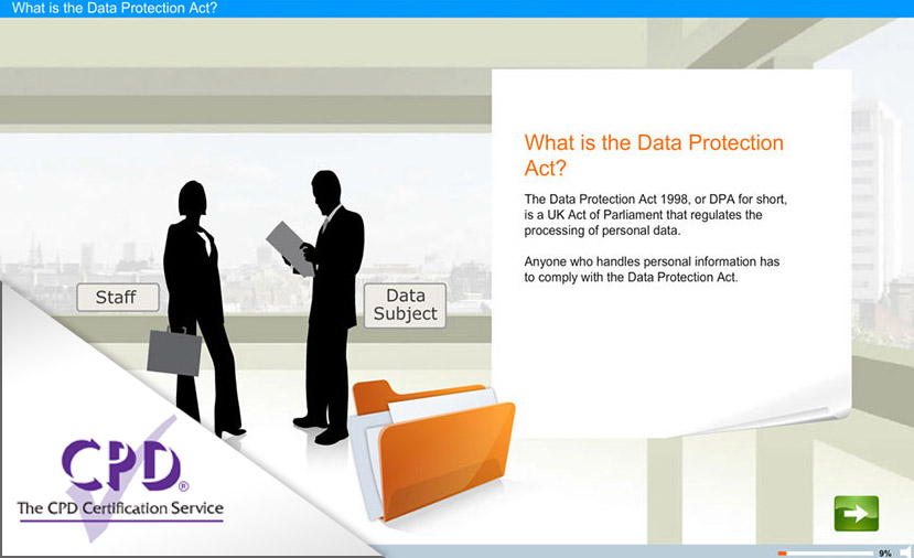 Data Protection Act e-learning course